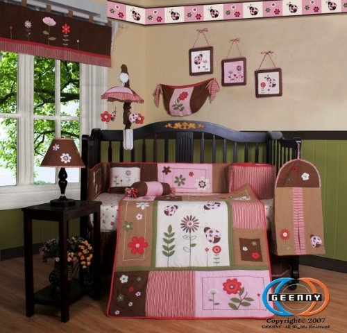 Custom Baby Girl Boutique Ladybug Bedding