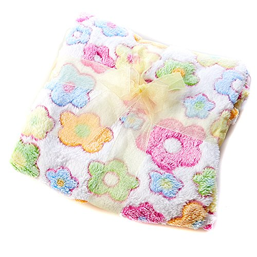 Little Beginnings Baby Girl Flower Blanket