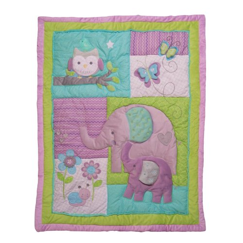 NoJo Elephant Crib Bedding Quilt Dreamland