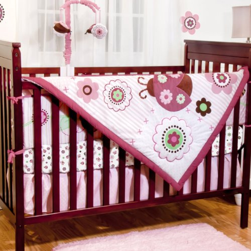 Bugs & Kisses 5 Piece Baby Crib Bedding Set with Bumper by Baby's First