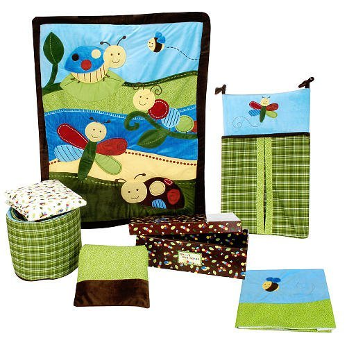 Critter Babies 7 Piece Baby Crib Bedding Set by Nojo