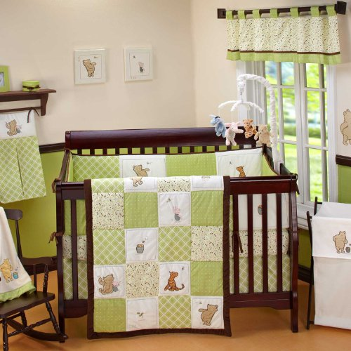Winnie the Pooh Baby Crib green Bedding Set by Disney Baby