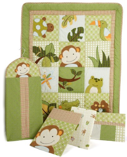 Lambs & Ivy Papagayo 5 Piece Crib Bedding Set Green nursery