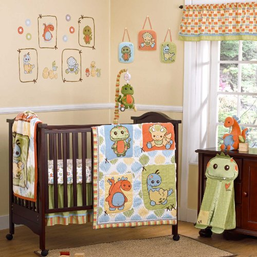CoCaLo Nursery green Crib Set Dinos at Play