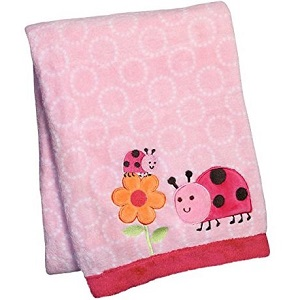 Carter's Embroidered Sherpa Blankets Ladybug Nursery